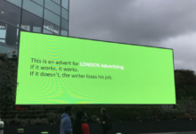 Photo of London Advertising launches a campaign to promote herself
